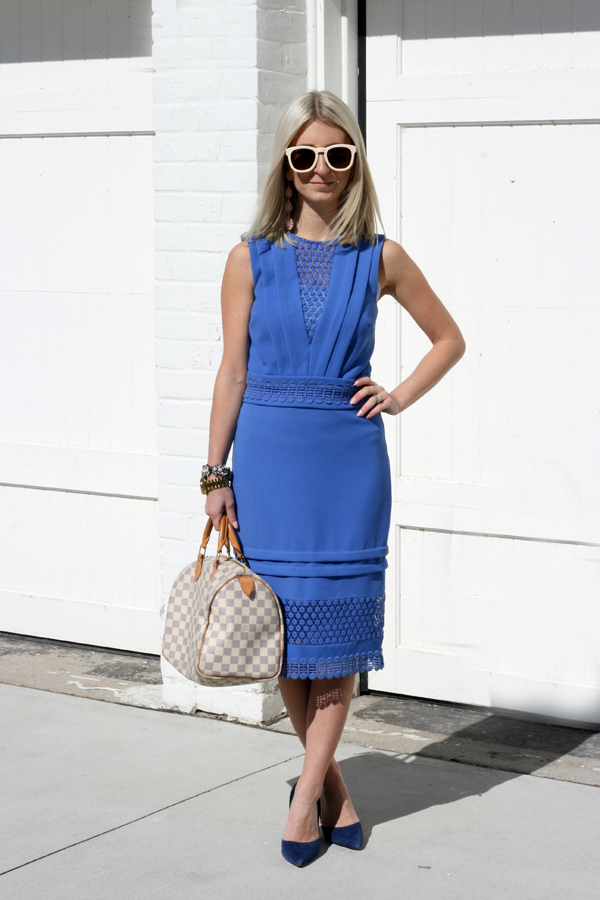 pretty blue lace dress spring