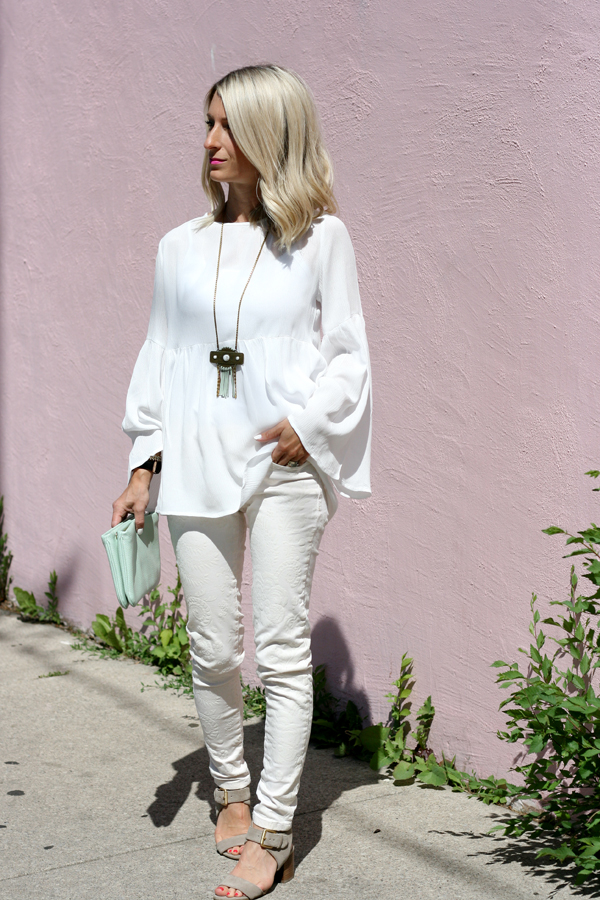 white summer style look