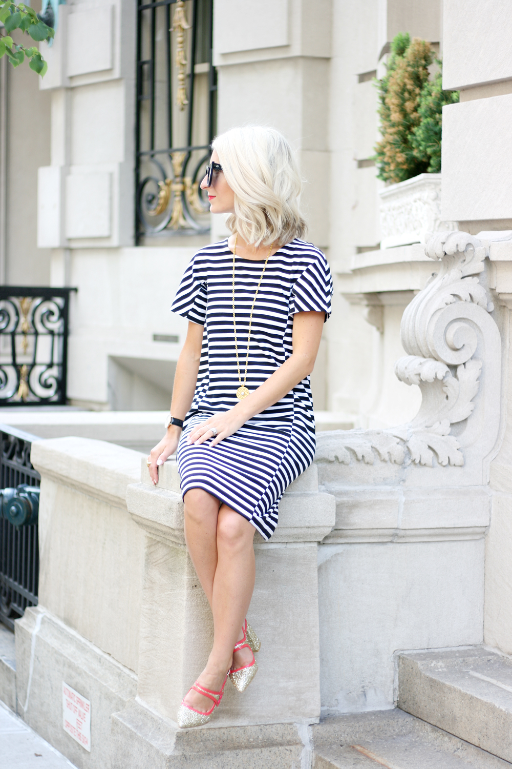 striped dress j.crew