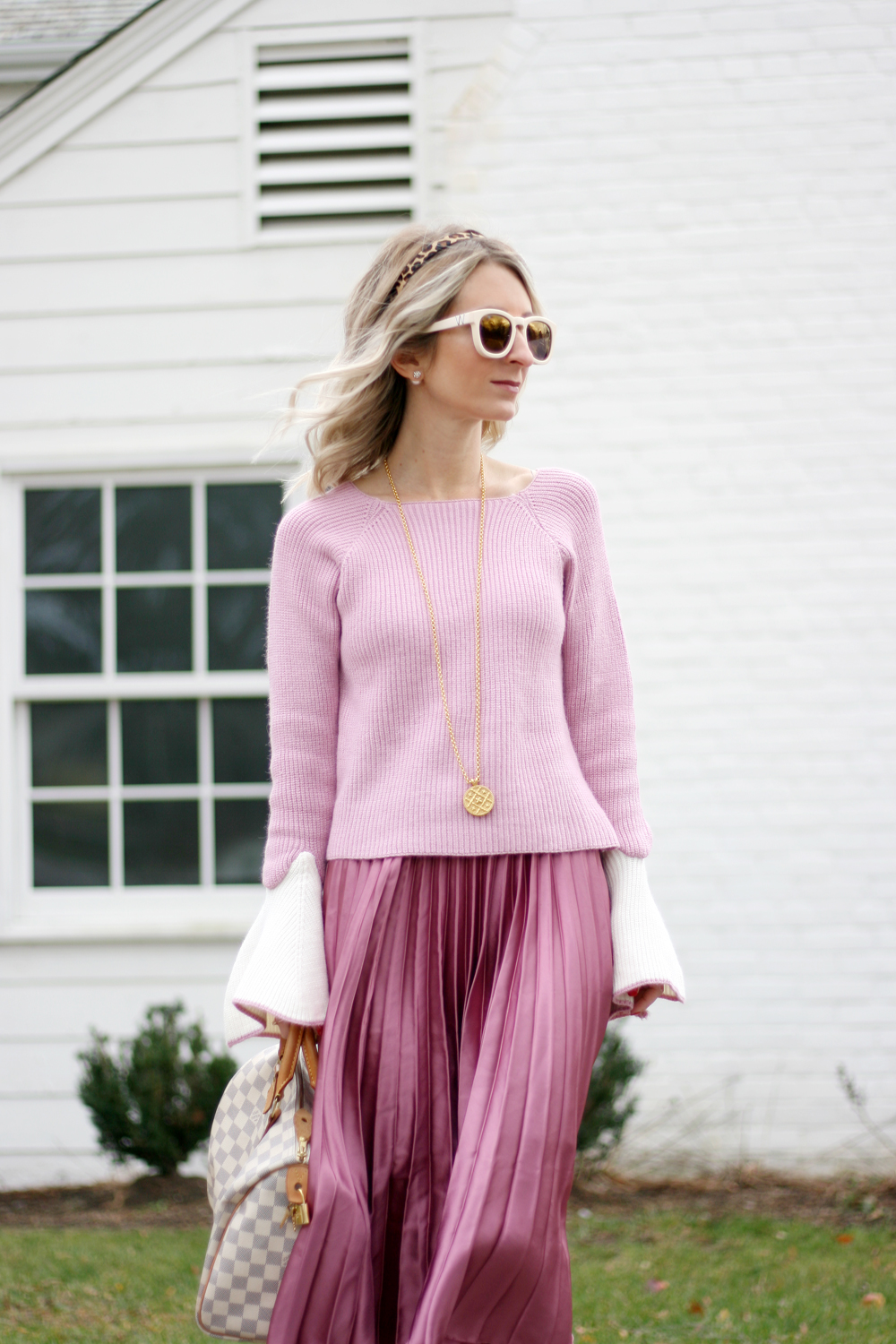 all pink winter style