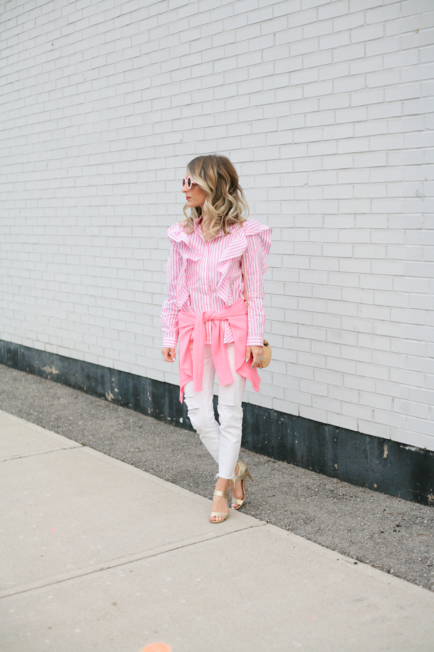 Pink Stripe Blouse